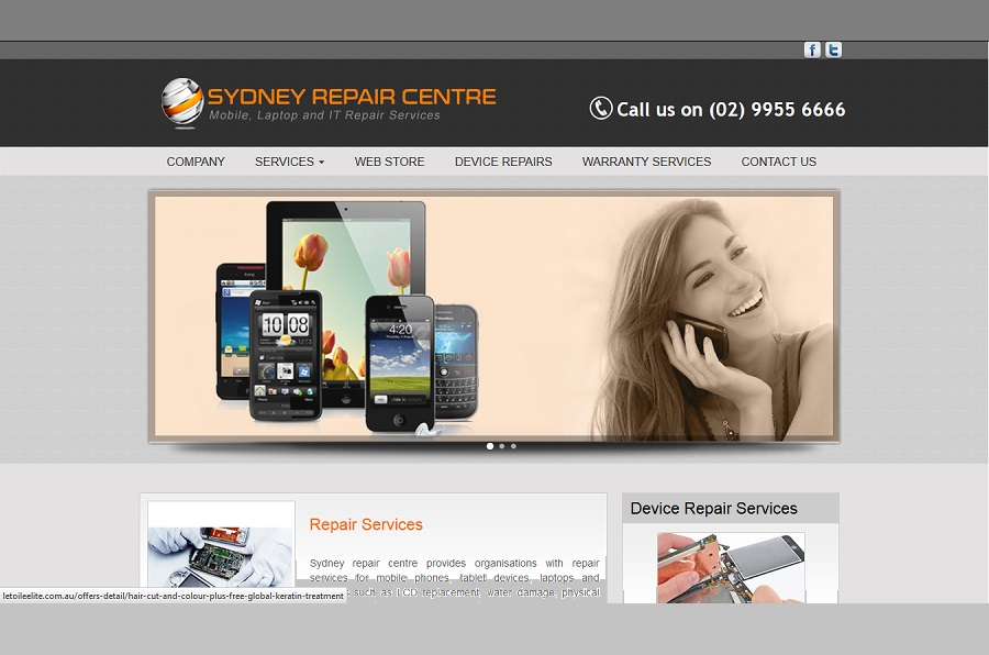 sydney repair centre mobile repair shop website