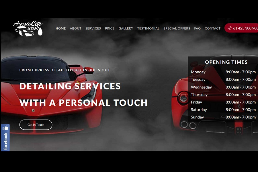 Aussie Car Wash Web designing dulwich hill